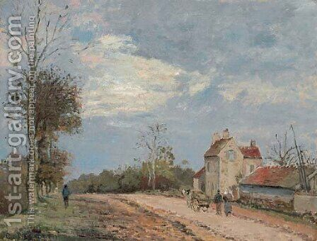 La maison de Monsieur Musy, route de Marly, Louveciennes by Camille Pissarro - Reproduction Oil Painting