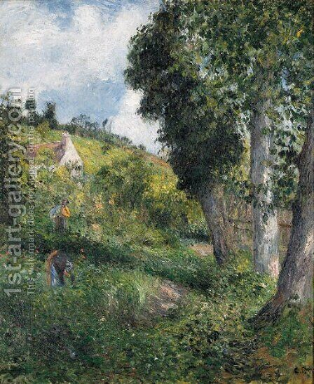 Paysage 'au chou', pres pontoise by Camille Pissarro - Reproduction Oil Painting