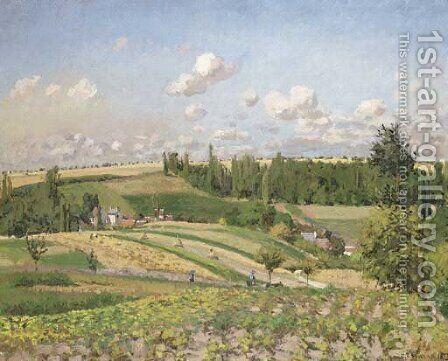Paysage, la moisson, Pontoise by Camille Pissarro - Reproduction Oil Painting