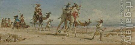 Crossing the Dessert by Carl Haag - Reproduction Oil Painting
