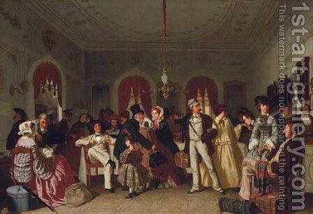 The first and second-class waiting room by Carl Henrik D'Unker - Reproduction Oil Painting