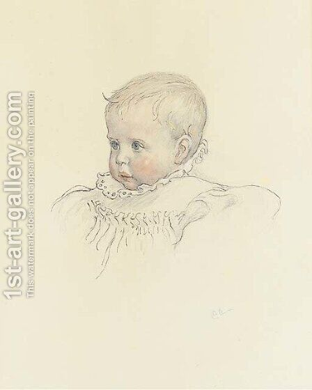 Siri Anders Carlsson by Carl Larsson - Reproduction Oil Painting