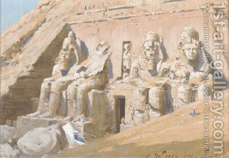 Abu Simbel by Carl Wuttke - Reproduction Oil Painting
