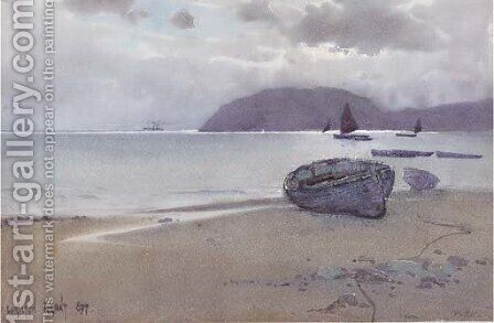 Low tide in Llandudno, Wales by Carleton Grant - Reproduction Oil Painting