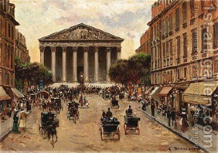 Place de la Madeleine by Carlo Brancaccio - Reproduction Oil Painting