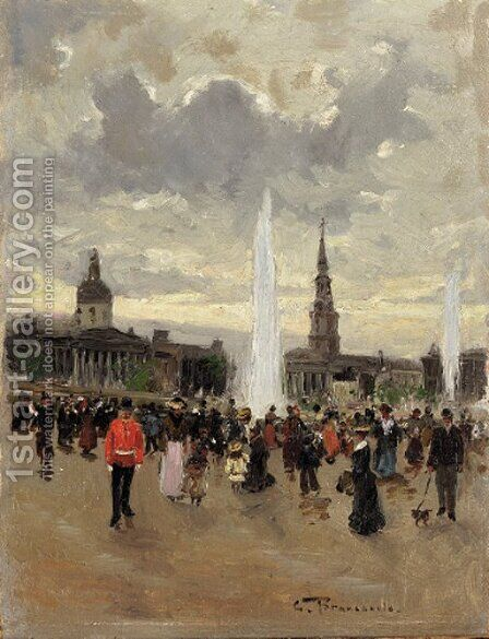St. Martin-in-the-fields by Carlo Brancaccio - Reproduction Oil Painting