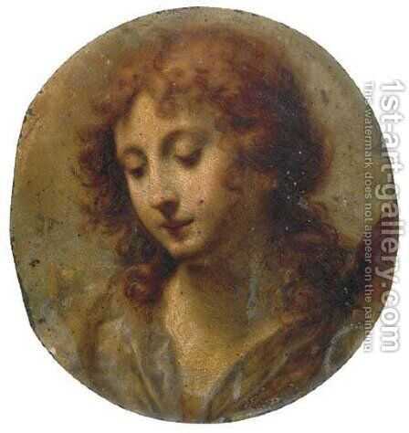 Head of an Angel by Carlo Dolci - Reproduction Oil Painting