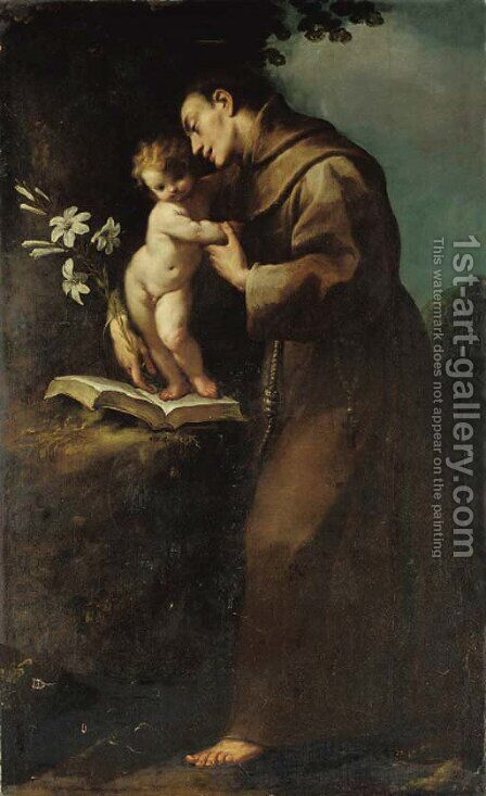 Saint Antony of Padua and the Infant Christ by Carlo Francesco Nuvolone - Reproduction Oil Painting