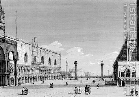 The Doge's Palace and San Giorgio Maggiore, Venice by Carlo Grubacs - Reproduction Oil Painting