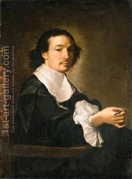 Portrait of a man by Carlo Maratta or Maratti - Reproduction Oil Painting