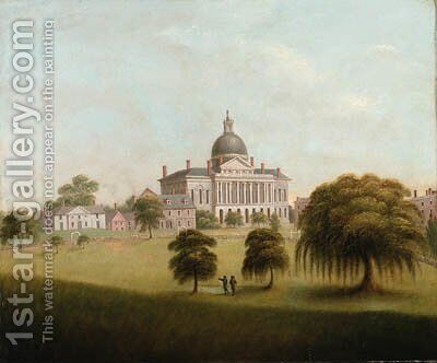 View of the State House by Catherine Davis - Reproduction Oil Painting