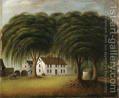 House near Boston State House by Catherine Davis - Reproduction Oil Painting