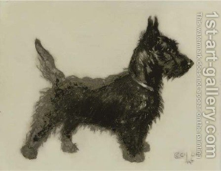A little Scottie by Cecil Charles Aldin - Reproduction Oil Painting