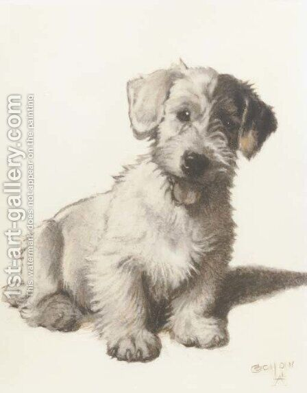 A sealyham terrier by Cecil Charles Aldin - Reproduction Oil Painting