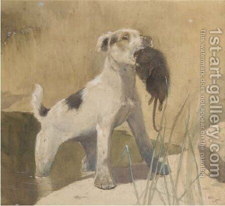 Country dog by Cecil Charles Aldin - Reproduction Oil Painting
