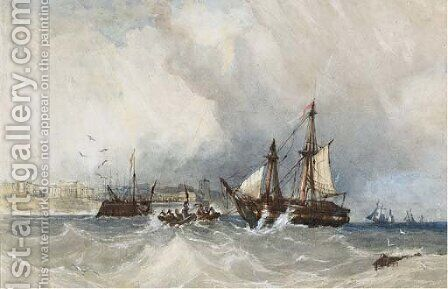 Bringing in the derelict by Charles Bentley - Reproduction Oil Painting