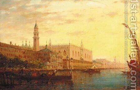 Il Bacino di San Marco, Venezia by Charles Clement Calderon - Reproduction Oil Painting
