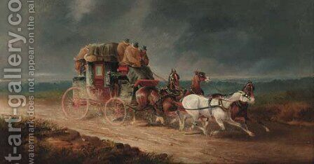 The Willy Linn to London Royal Mail Coach by Charles Cooper Henderson - Reproduction Oil Painting