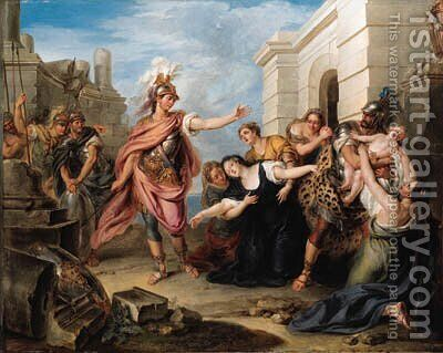 Andromache and Pyrrhus by Charles-Antoine Coypel - Reproduction Oil Painting