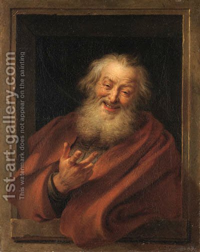 The Cheerful Democritus by Charles-Antoine Coypel - Reproduction Oil Painting