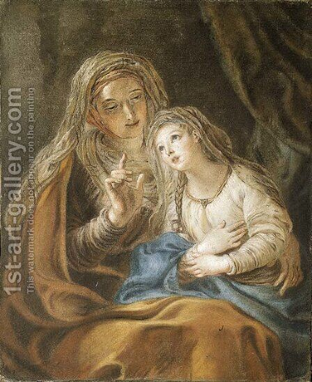 The Education of the Virgin by Charles-Antoine Coypel - Reproduction Oil Painting