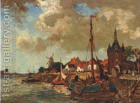 The Lekpoort, Vianen by Charles Dankmeijer - Reproduction Oil Painting
