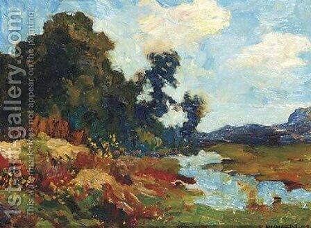 An impression of summer by Charles Dankmeijer - Reproduction Oil Painting