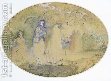 The Meeting by Charles Edward Conder - Reproduction Oil Painting