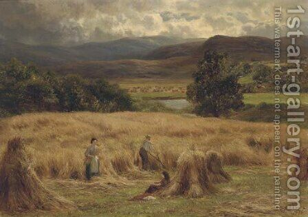 Harvest time by Charles Edward Johnson - Reproduction Oil Painting