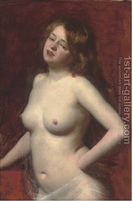 Female nude by Carolus (Charles Auguste Emile) Duran - Reproduction Oil Painting