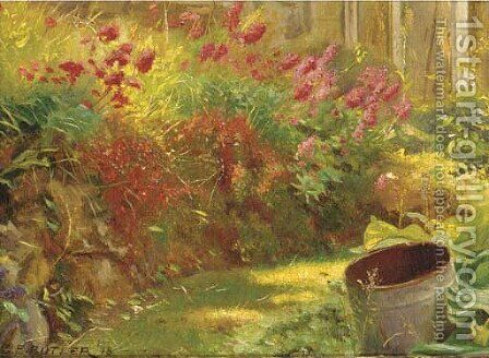 Sunlit garden by Charles Ernest Butler - Reproduction Oil Painting