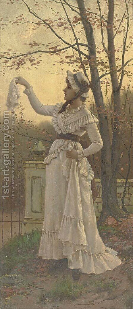 Farewell by Charles Frederick Lowcock - Reproduction Oil Painting