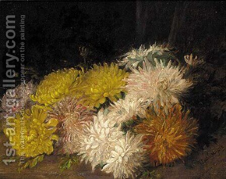 Chrysanthemums by Charles Gregory - Reproduction Oil Painting