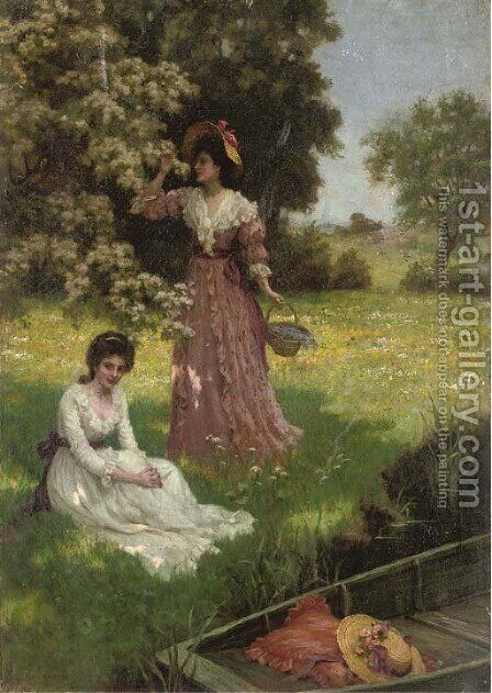 Spring blossoms by Charles Haigh-Wood - Reproduction Oil Painting