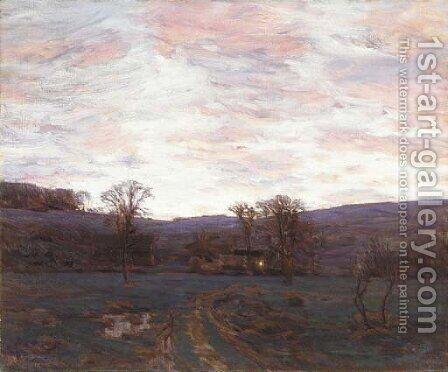 Sundown Under a Blazing Sky by Charles Harold Davis - Reproduction Oil Painting