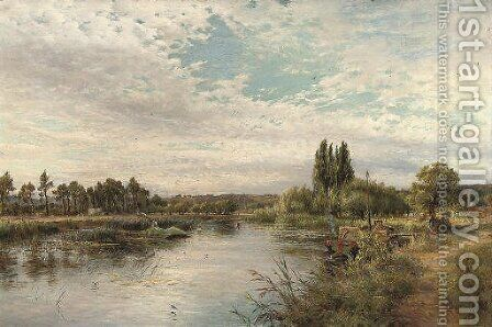 On the river, near Marlow by Charles James Lewis - Reproduction Oil Painting