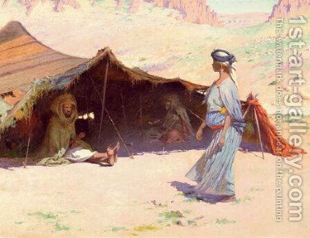 The desert camp by Charles James Theriat - Reproduction Oil Painting