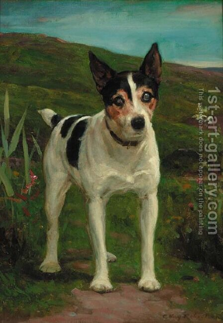 Joseph, a Jack Russell terrier by Charles Robertson - Reproduction Oil Painting