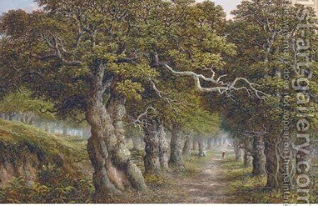 The forest track by Charles Leaver - Reproduction Oil Painting
