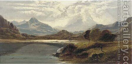 Moel Hebog, North Wales by Charles Leslie - Reproduction Oil Painting