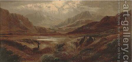 In the Tyndrum Valley, Argyleshire by Charles Leslie - Reproduction Oil Painting