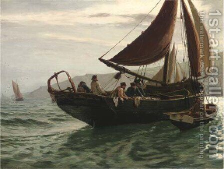The Trawler by Charles Napier Hemy - Reproduction Oil Painting