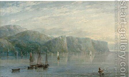 A calm day in the bay by Charles Nicholls Woolnoth - Reproduction Oil Painting