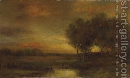 Sunset Landscape by Charles P. Appel - Reproduction Oil Painting