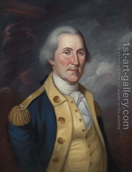 George Washington 2 by Charles Peale Polk - Reproduction Oil Painting
