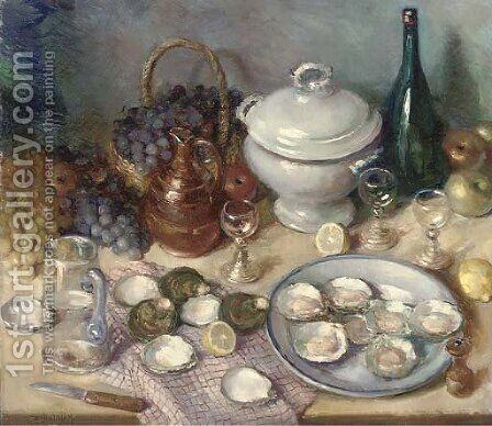 Still life by Charles Quoniam - Reproduction Oil Painting