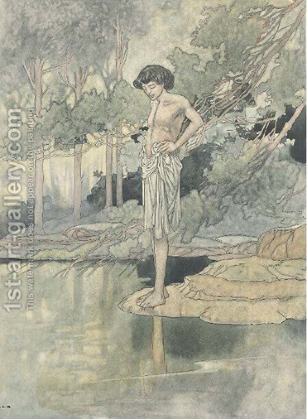 Narcissus by Charles Robinson - Reproduction Oil Painting