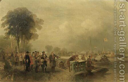 Stadholder William III inspecting the troups at Hinderschans by Charles Rochussen - Reproduction Oil Painting