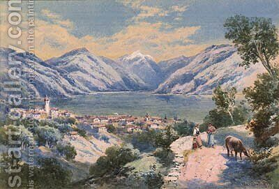 Vevey, Switzerland by Charles Rowbotham - Reproduction Oil Painting