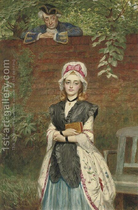The admiring onlooker by Charles Sillem Lidderdale - Reproduction Oil Painting